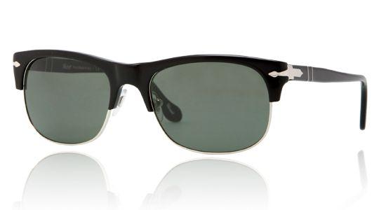 Persol per uomo po3034s  - 95\31 (BLACK\crystal green), Occhiali da Sole Calibro 53