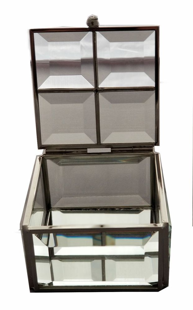 Nicole Miller Jewelry Box Captivating Nicole Miller Glass Jewelry Box  Glass Jewellery Box Glass Jewelry Inspiration