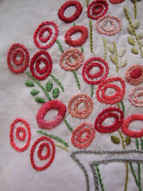 chain stitch flowers
