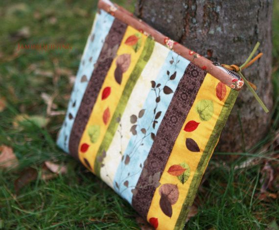 Autumn Scented Pouch IPad Bag Personalized by JamiesQuilting, $58.00