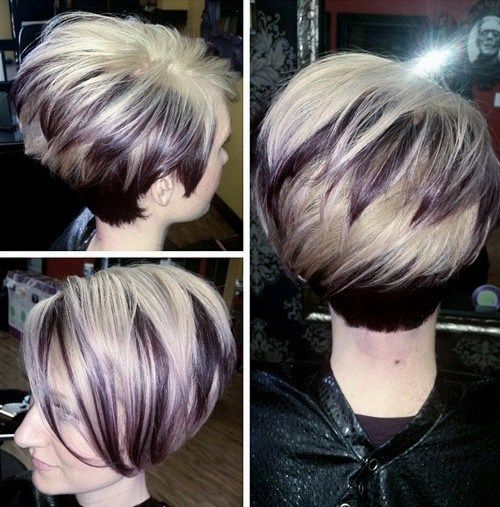 stacked two-tone bob
