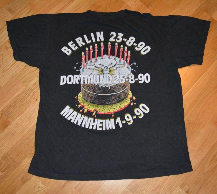 RaRe *1990 AEROSMITH -WHITESNAKE- DIO* vtg concert shirt XL 80's The Front Vixen | eBay