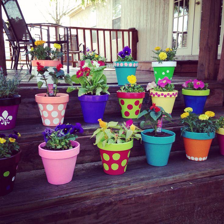 Painted Terra Cotta Pots!