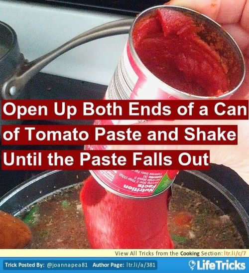 Cooking - Simple Way to Get Tomato Paste Out of a Can