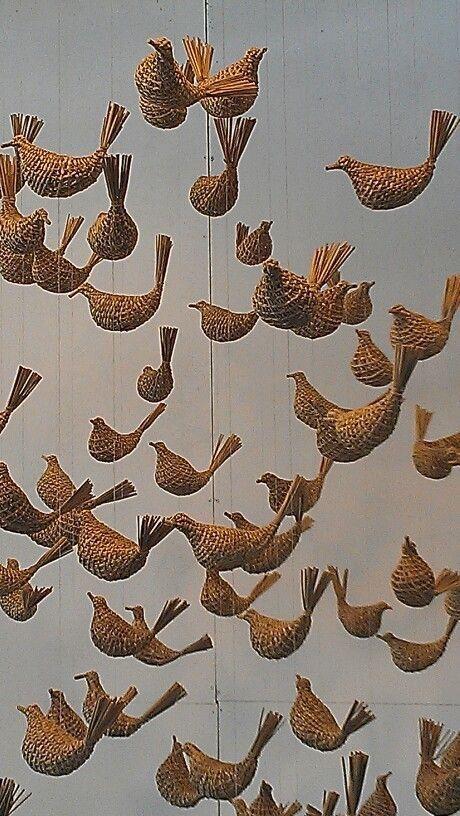 woven basket birds via Blueberry modern