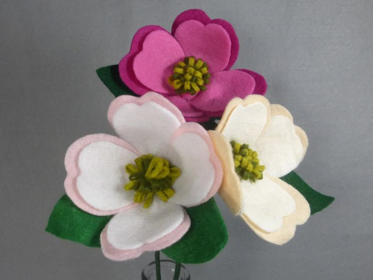 Dogwood Pink Flower flor Artificial en una por Pocketfullposies