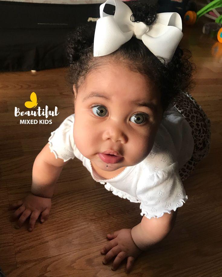 Aaliyah - 8 Months • 75% African American & 25% Caucasian (French)   FOLLOW @BEAUTIFULMIXEDKIDS  http://instagram.com/beautifulmixedkids