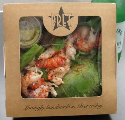 Pret's No Bread Crayfish and Avocado Salad - my favourite