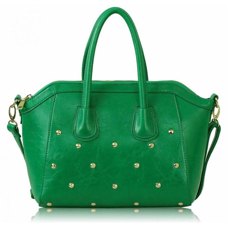 Barva: Zelená. Velikost: 30x26 cm .Dvojité polstrované uši. Zdobený vzhled se zipy a kapsy na příslušenství. Dlouhý popruh.