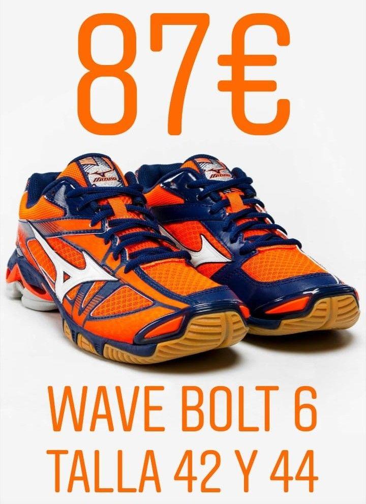 31da33dd908b ENVÍO INCLUIDO!!! Mizuno modelo Wave Bolt 6 en talla 42 y 44 ...