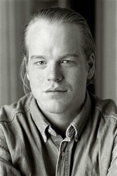 Early headshot, Philip Seymore Hoffman by Andrew Brucker.
