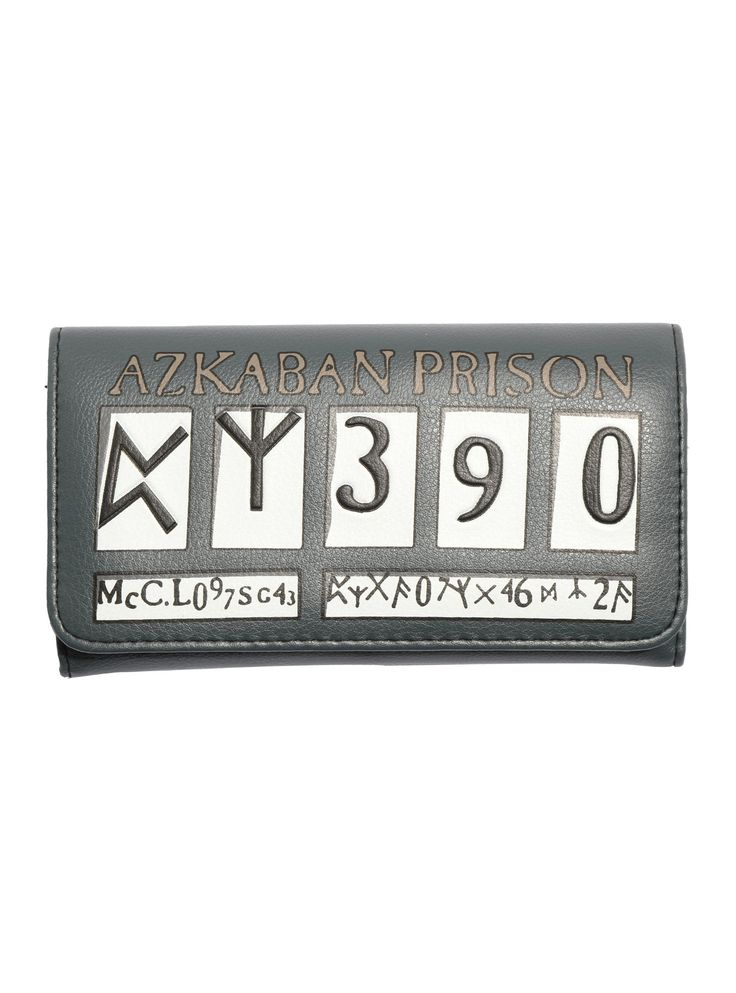 """Have you seen this wallet? The <i>Harry Potter and the Prisoner of Azkaban</i> inspired design features Sirius Black's nameplate from his Azkaban Prison mugshot. Interior features card slots and billfolds. Snap closure.<br><ul><li style=""""list-style-position: inside !important; list-style-type: disc !important"""">Polyurethane</li><li style=""""list-style-position: inside !important; list-style-type: disc !important""""&..."""