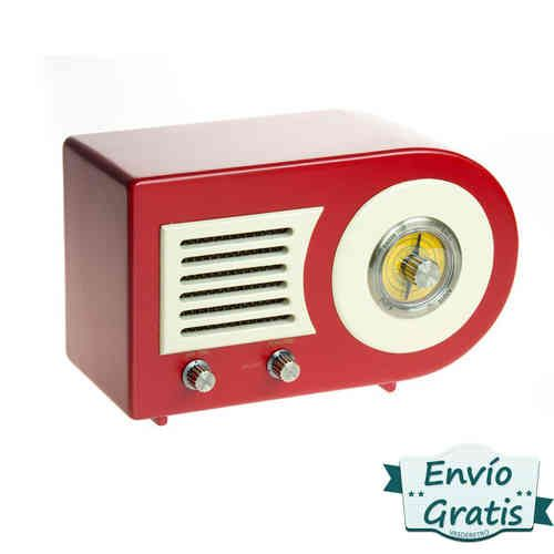 Radio retro Oldie roja analógica de madera. Más modelos en http://www.vasderetro.com/radios-retro