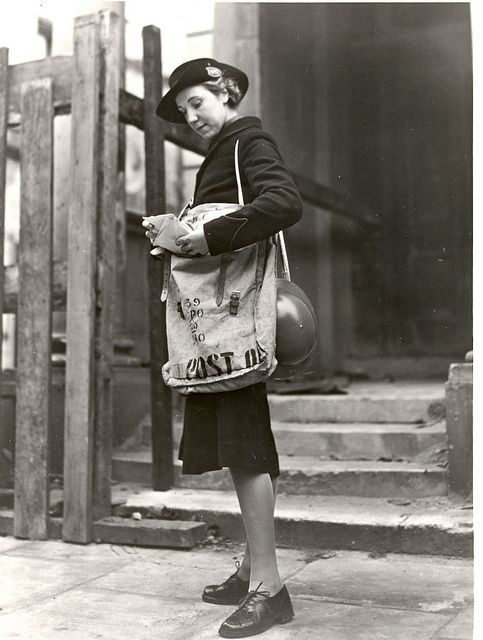 Postwoman 1942; British Postal Museum; http://www.flickr.com/photos/postalheritage/5142796515/