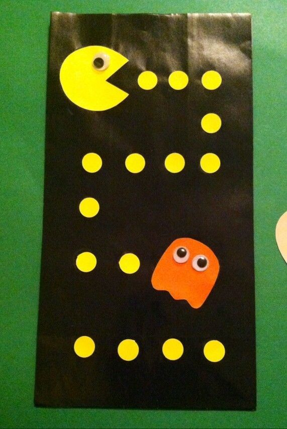12 Pac-Man treat loot candy gift BAGS party supplies Pixel Movie PACMAN 80'S by PartyInaBox5 on Etsy