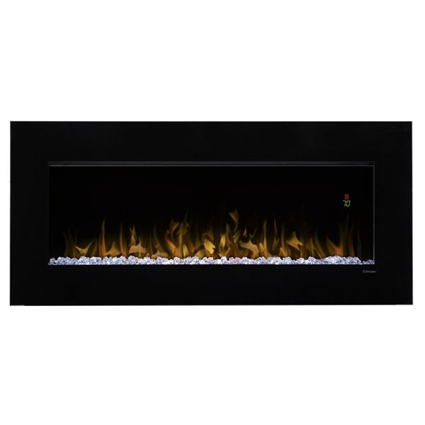 Shop Dimplex 43-in W 4,231-BTU Black Metal Wall-Mount Fan-Forced Electric Fireplace with Thermostat and Remote Control at Lowe