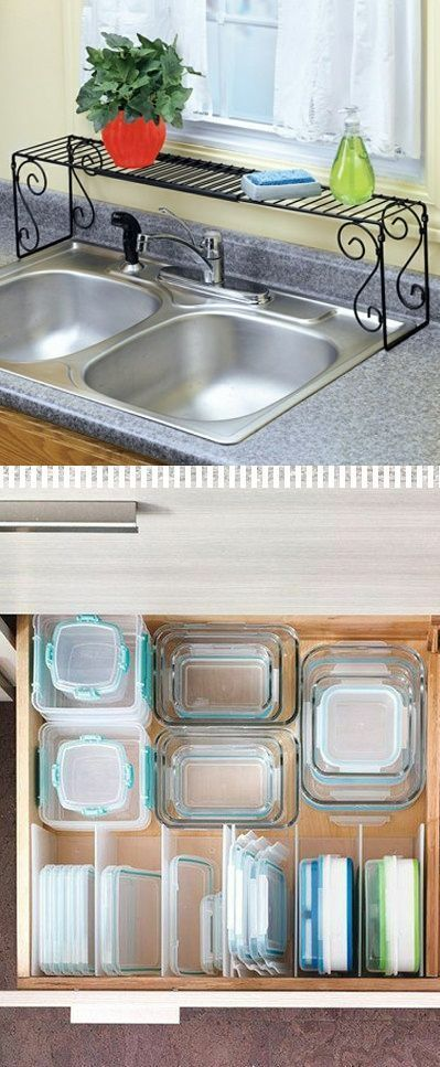 Have you been looking for ways to organize and declutter your kitchen? In this post, I will share with you 21 DIY kitchen organization ideas that are simply genius! You will love the creativity of these time, space and money saving kitchen organization hacks. 1-Use dividers to separate lids and containers in the kitchen drawer. …