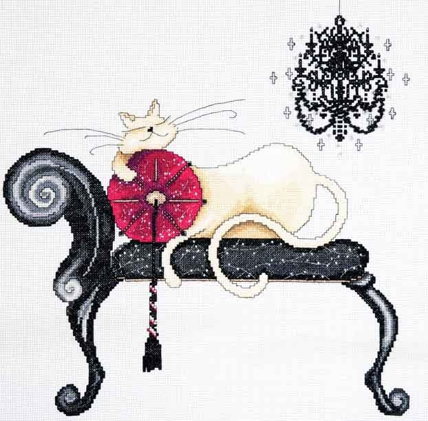 Design Works Counted #crossstitch CHANDELIER CAT #catlover #cat #DIY #needlecraft #giftideas #decor