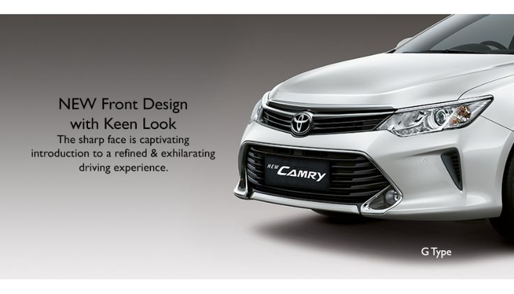 Toyota All New Camry type G - Front look - The Future Sedan - Auto2000