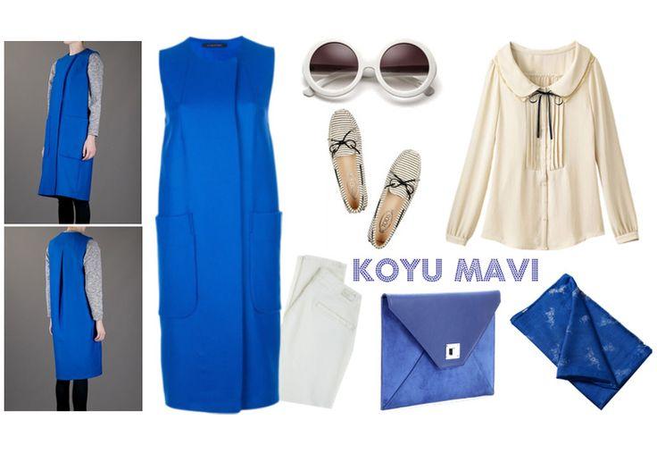 Renk Kombinasyonları - Koyu Mavi Tesettür Kombin  http://www.yesiltopuklar.com/dogru-renk-kombinasyonu-psikolojiyi-etkiliyor.html