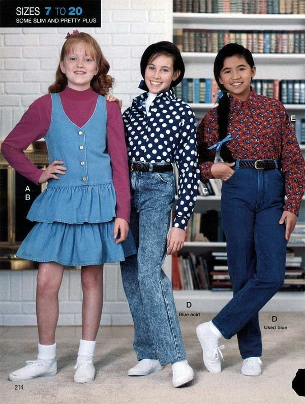 Children's Fashion from the 1990s-Kids would wear plaid ...