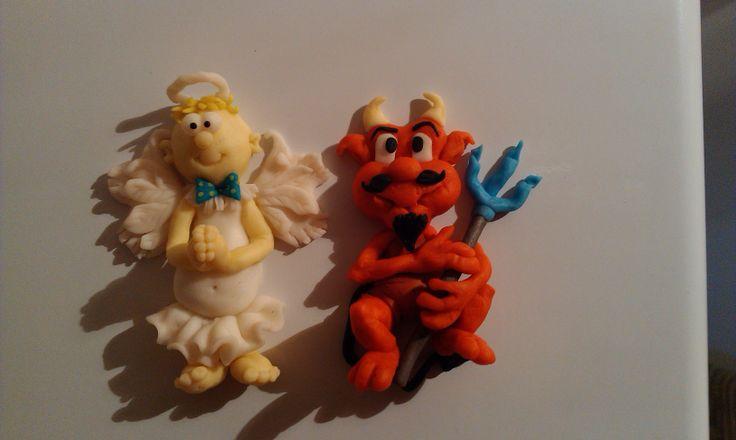 Moje wytwory anielsko-diabelskie z modeliny :)