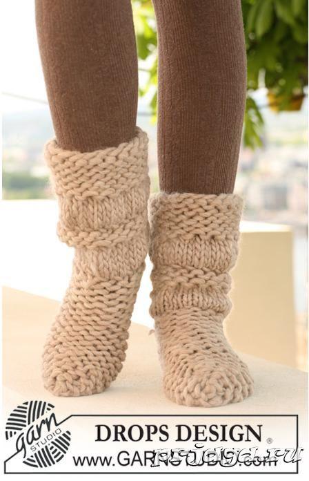 Вязание носков на 2 спицах