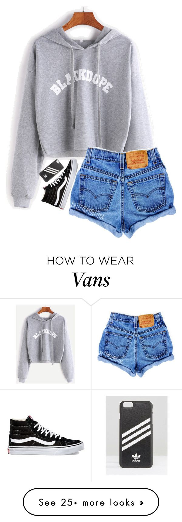 """""""Just a low  outfit"""" by cait926 on Polyvore featuring Vans and adidas"""