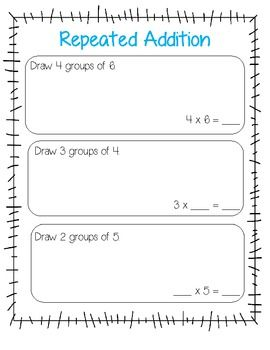 17 Best ideas about Repeated Addition on Pinterest | Teaching ...