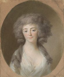 The Burgravine Luise Isabelle of Kirchberg (1772-1827). She was the daughter of The Burgrave Wilhlem Georg and his wife, The Princess Isabella Reuß of Greiz. She was The Hereditary Princess of Nassau-Weilburg (1778) and Sovereign Princess of Nassau-Weilburg (1778-1816) as the wife of Sovereign Prince Friedrich Wilhelm. Her surviving children were Sovereign Duke Wilhelm of Nassau, The Prince Friedrich, and The Princess Henriette.