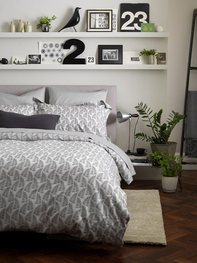 secret linen store ferns graphite bedding set