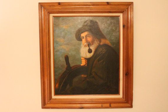 Sea Captain Oil Painting By Lee Young By Plumdandyantiques