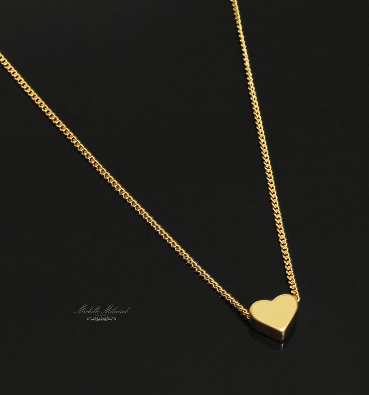 Goldplated+Heart+Charm+Necklace+by+MichelleMilward+on+Etsy,+$29.50