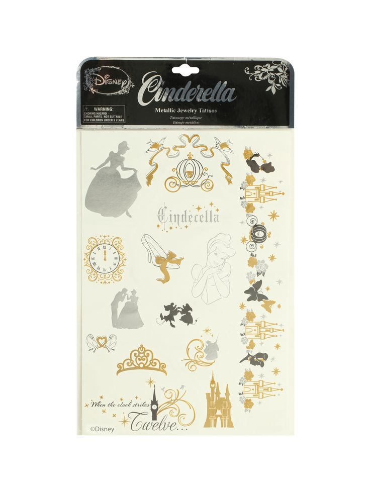 So want these...Cinderella Temp Tattoos.