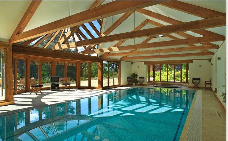Patio Indoor Pool In Rustic Setting