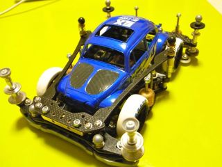 VW Bug Volkswagon Beetle Blue | Mini 4WD Tamiya Marukai Pacific Market Gardena / Los Angeles Beautiful Southern California USA 310-464-8888