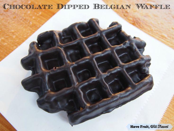 Chocolate dipped Belgian waffle!