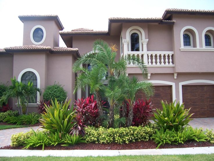 Designing Exteriors Home Ideas Front Yard Garden Landscaping Decoration  With Trees And Plants For Planning Design Front Yard Ideas Tropical  Landscaping ...