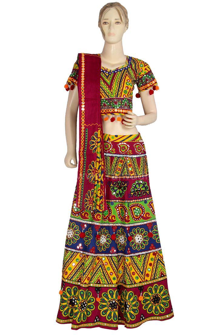 Designer Multicoloured Chaniya Choli for Navratri #Garba #Dance #Navratri #Festival #Rajwadi #chaniyacholi #newarrival #grabit #Navratricollection #Navratri2015