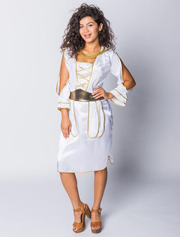 Kleid Griechin Damen knielang | Deiters  |  Frauen  | Kostüm | Karneval | Fasching | Outfit | Mottoparty | Halloween