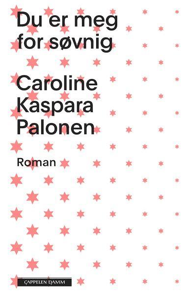 En gang fikk jeg en bukett valmuer av Yngve. Jeg tror han hadde plukka dem selv. Jeg ble glad. Senere fant jeg ut at valmuer på blomsterspråket betyr: Du er meg for søvnig.  Romanen Du er meg for søvnig handler om Cora. Hun har lest at hver dag er en skatt. Hun prøver å fylle dagene sine. Med denne romanen byr Caroline Kaspara Palonenen nok en gang på en forunderlig liten bok om et skjørt forhold. Og en historie om en beskjeden, men sterk, ung kvinne med humor og et skeivt blikk på verden.