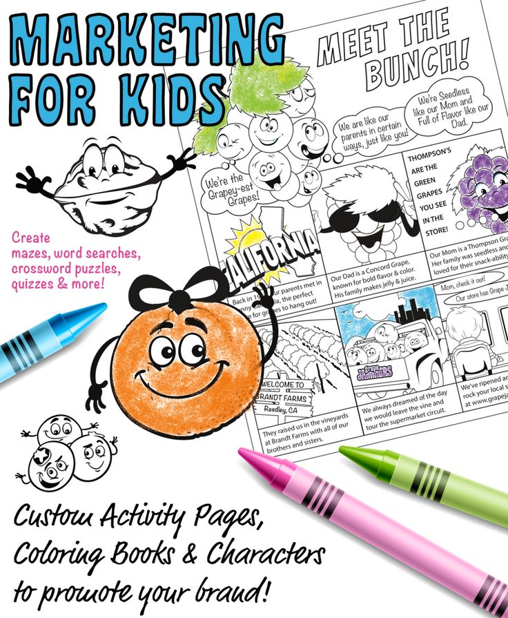 reach your target audienceand their kids well help you create custom target audiencebook characterscoloring books