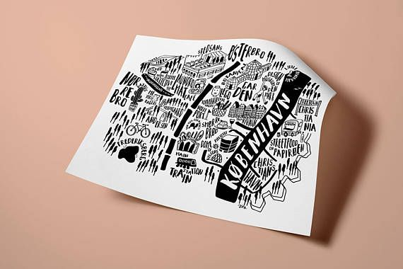 Copenhagen Map Print. City Original illustration. City Guide. Map print. My fave places in København. Maps This is an original illustration of Copenhagen/ København. Those are my fave places: places to drink coffee and, eat the best sweets, spent time having a look, places to have fun, places to observe and places to play also! And also some hidden spots you MUST to visit in this wonderful city! About the CITY MAPS Collection: from my travel journal, this is a collection of illustrated...