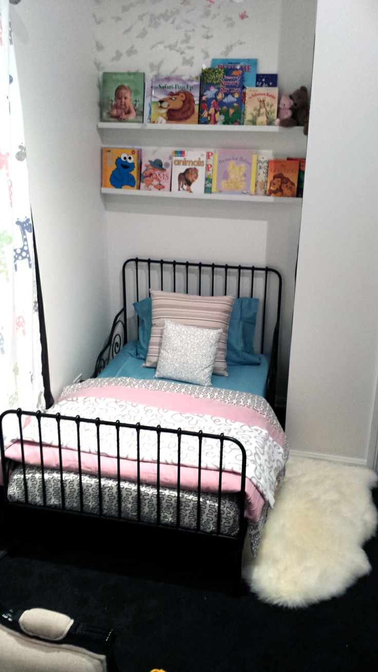 Our Toddler Bed All Ikea Products Minnen Bed Frame With