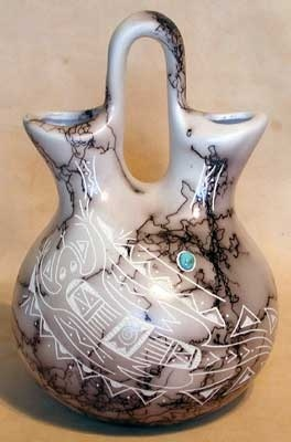 Native American Indian Horse Hair Pottery