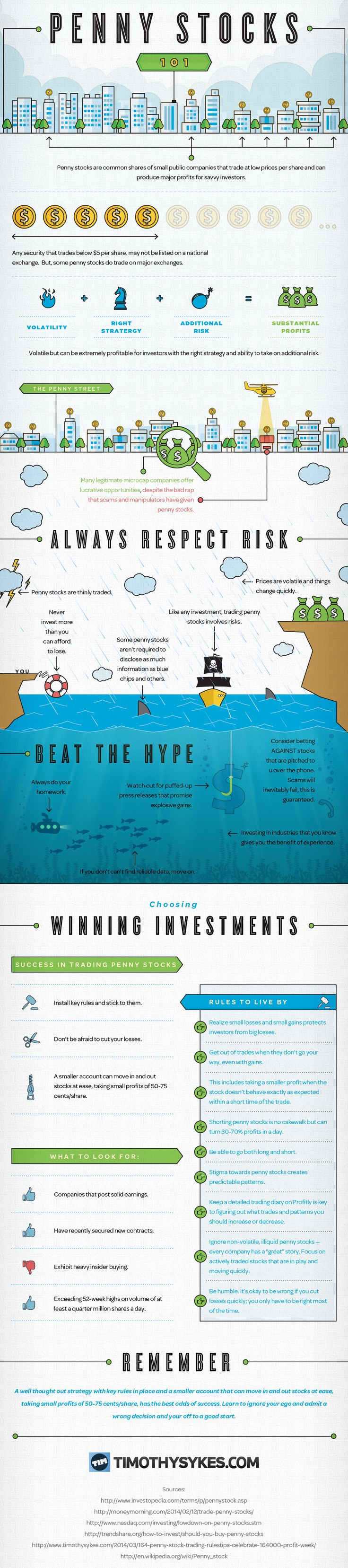 Penny Stocks 101 #infographic #Stock #PennyStock