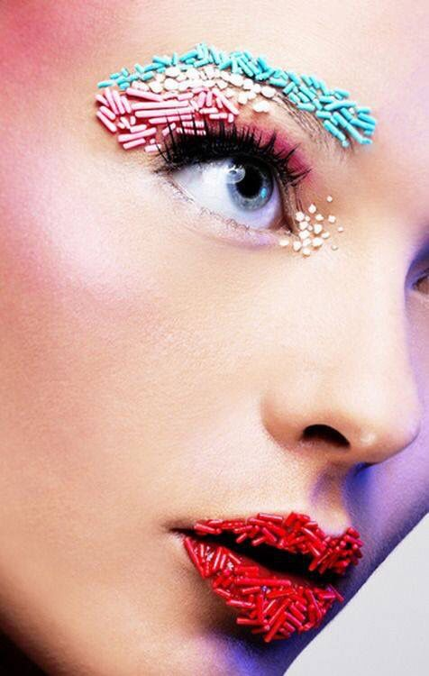 Real life #candy #crushing Source || Pinterest #makeup #lips #beauty #sprinkles #lipart
