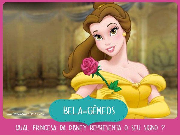 Bela de Gemeos - Qual princesa da Disney representa o seu