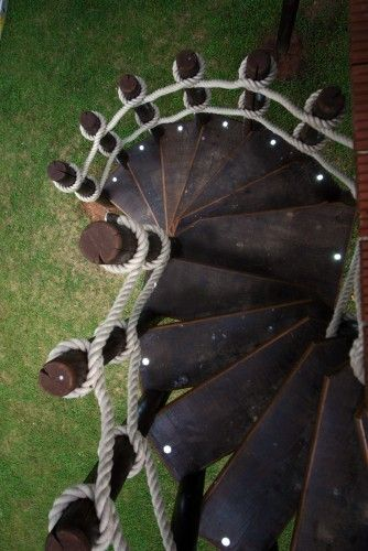 Staircase Rope Railing Inspiration. Gotta Try This For The #treehouse