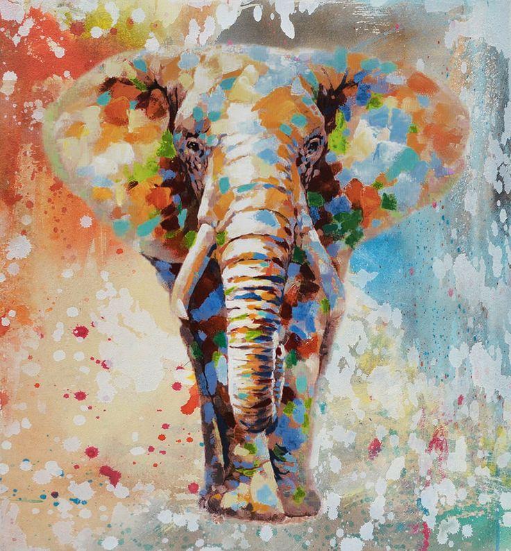 25 beste idee n over kleurrijke olifant op pinterest olifant kunst olifantengezicht en - Decoratie schilderij volwassen kamer ...
